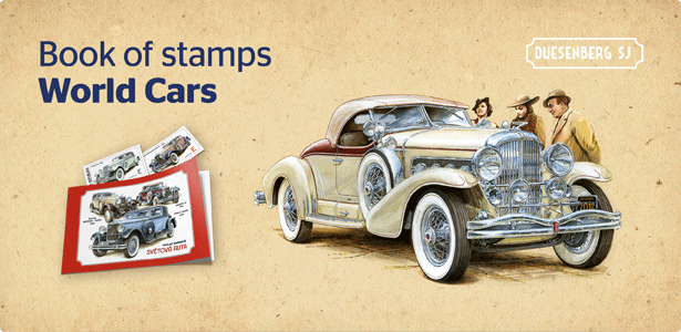World cars - Book of stamps (Mr. Zapadlik)