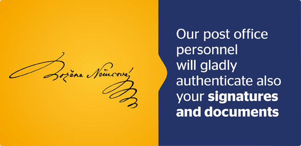 Our post office personnel will gladly authenticate also your signature and documents