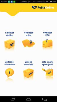 Úvodní stránka aplikace