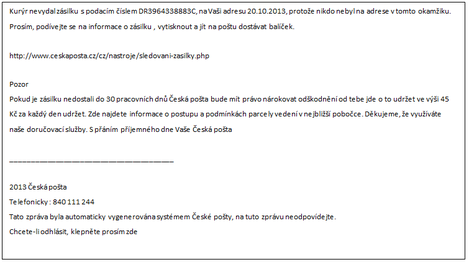 Příklady zasílání e-mailů online